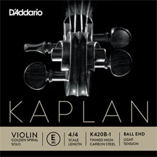 D'Addario Kaplan Golden Spiral Solo Violin Strings
