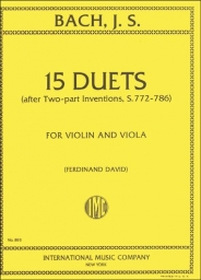 15 Duets after Two-part Inventions, S.772-786