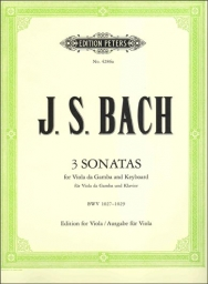 3 Sonatas for Viola da Gamba and Keyboard BWV 1027-1029