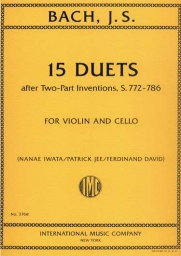 15 Duets after Two-Part Inventions S.772-286, Violin and Cello
