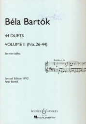 44 Duets for Two Violins - Vol. II (No.26-44)