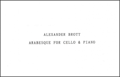 Arabesque for Cello and Piano