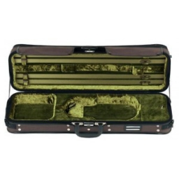 Gewa Strato De Luxe Oblong Violin Case - Brown/Green