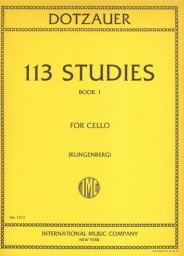 113 Studies for Cello Solo - Book I