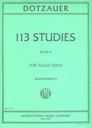 113 Studies for Cello Solo - Book II