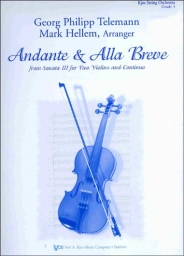 Andante & Alla Breve from Sonata II for Two Violins and Continuo