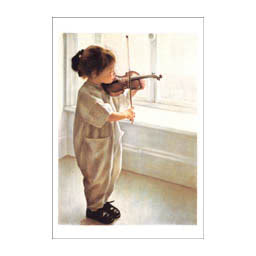"Notecard -""Le Petit Violon"" by Danielle Richard"