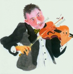 "Notecard - ""Violin"" by Mary Woodin"