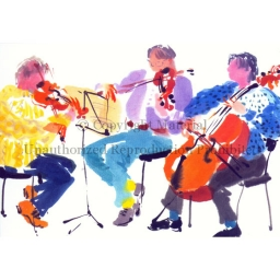 "Notecard - ""String Trio"" by Mary Woodin"