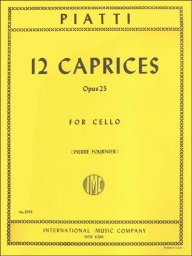 12 Caprices, Op. 25 for Cello
