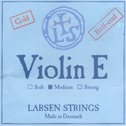 Larsen Violin Gold E String, Ball - medium - 4/4