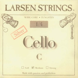 Larsen Fractional Wire Core Cello Silver C String - medium - 1/4