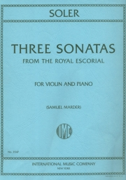 3 Sonatas from the Royal Escorial