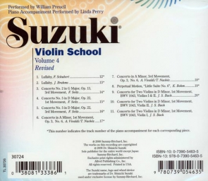 Suzuki Violin School - CD - Volume 4 Revised - William Preucil