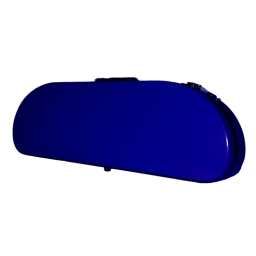 Bobelock Half Moon Fiberglass Violin Case - Blue