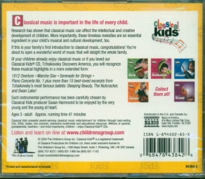 Classical Kids The Best of Tchaikovsky CD