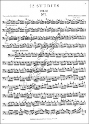 22 Studies for Cello Solo