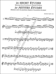 24 Short Études: Relating Neck Positions to Thumb Position