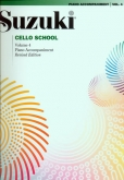 Suzuki Cello School - Volume 4 - Piano Acc (Rev. Edition)