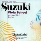 Suzuki Viola School - Volumes 3-4 - CD (Rev. Edition)