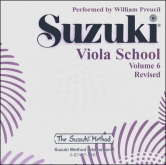 Suzuki Viola School - Volume 6 - CD (Rev. Edition)