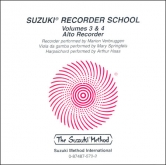 Suzuki Recorder School - Alto Recorder - CD Volume 3-4