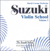 Suzuki Violin School - CD Volume 3 - David Cerone