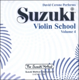Suzuki Violin School - CD Volume 4 - David Cerone