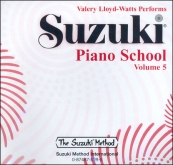 Suzuki Piano School - CD Volume 5 - Watts