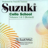 Suzuki Cello School - Volumes 1-2 - CD (Rev. Edition)