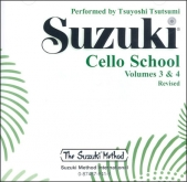 Suzuki Cello School - Volumes 3-4 - CD (Rev. Edition)