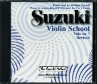 Suzuki Violin School - CD Volume 3 Revised - William Preucil