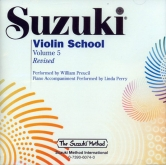 Suzuki Violin School - CD - Volume 5 - Revised - William Preucil