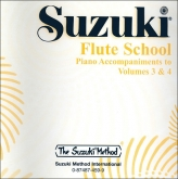 Suzuki Flute School - CD Volumes 3-4 - Piano Accompaniment