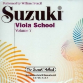 Suzuki Viola School - Volume 7 - CD (Rev. Edition)