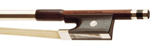 Knoll Pernambuco Nickel Mounted Violin Bow - 1/2