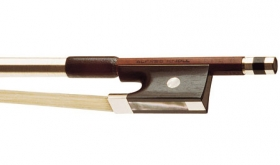 Knoll Octagonal Pernambuco Nickel Mounted Violin Bow - 4/4