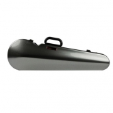 Bam Hightech Contoured Violin Case - 4/4 -Silver Carbon