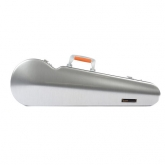 Bam La Defense Hightech Contoured Violin Case -Brushed Aluminium