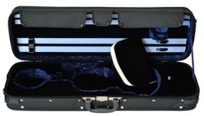 Gewa Oblong Concerto Violin Case - 4/4 - Black/Blue