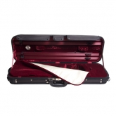 Gewa Maestro Oblong Violin Case - Black/Red