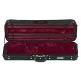Gewa Strato De Luxe Oblong Violin Case - Black/Red - 4/4