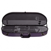 Bobelock Half Moon Fiberglass Violin Case - Purple
