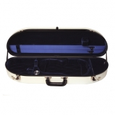 Bobelock Half Moon Fiberglass Violin Case - White