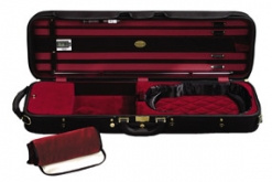 Winter Superlight Oblong Violin Case - Black/Red