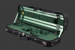 Negri Milano Cordura Oblong Violin Case - Black/Green