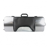 Bam Hightech Oblong Viola Case - Silver Carbon Look- With Pocket