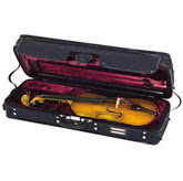 Gewa Strato De Luxe Oblong Viola Case - Black/Red