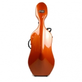 Bam Newtech Cello Case - Terracotta, with wheels