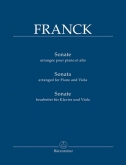 Franck - Sonata arranged for Piano and Viola